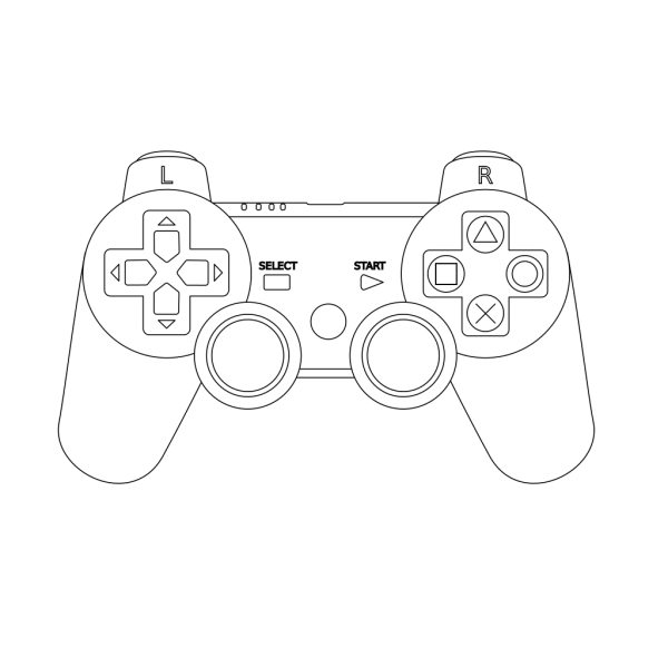 Game Console Controller Outline PNG images