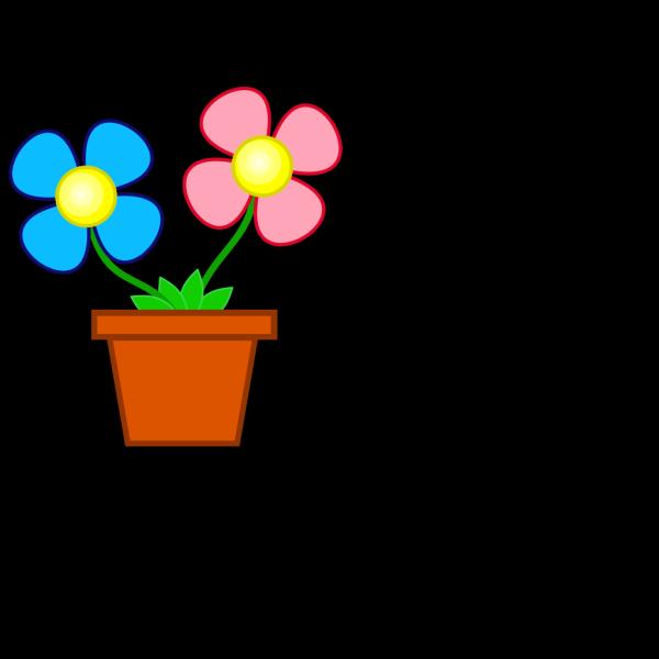Flowerpot With Soil PNG Clip art