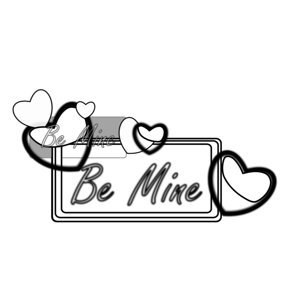 Be Mine Outline PNG Clip art