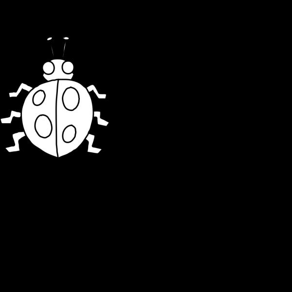 Ladybug Outline PNG Clip art