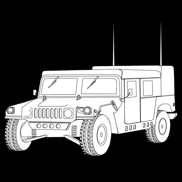 Hummer Outline PNG images