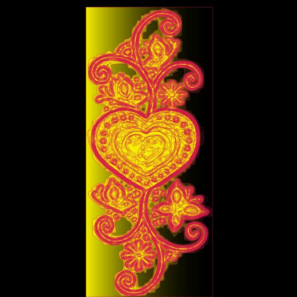 Decorative Heart PNG Clip art