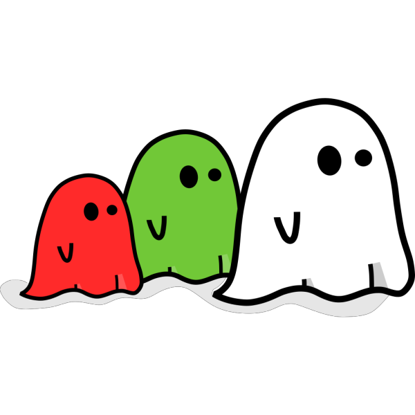 Colored Ghosts PNG Clip art
