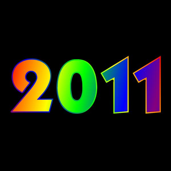 2011 Rainbow Sign PNG Clip art