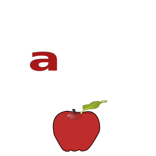 A Is For Apple PNG Clip art