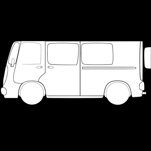 Van With No Color PNG Clip art