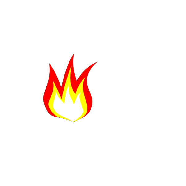 Flame 2 Color PNG Clip art