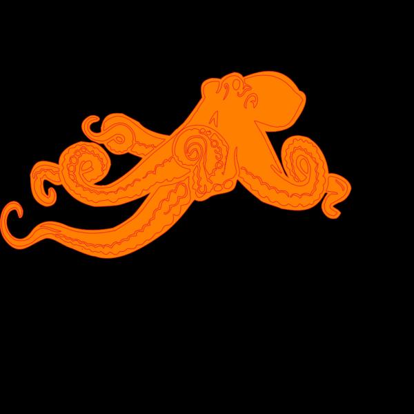 Orange Ocotopus PNG Clip art
