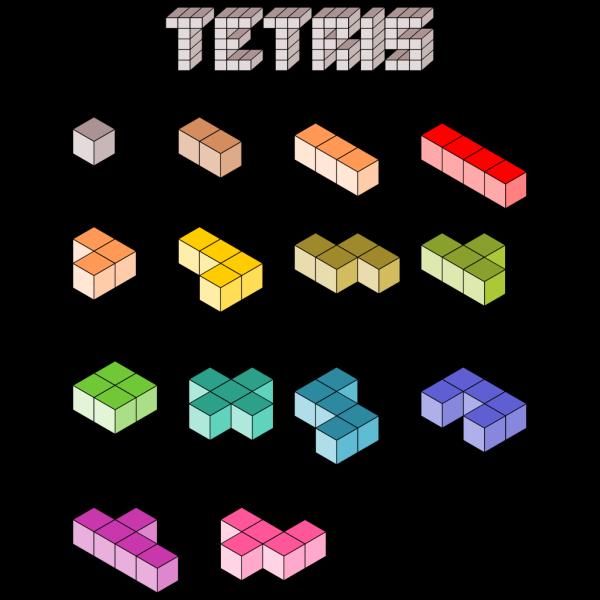 3d Tetris Blocks PNG images