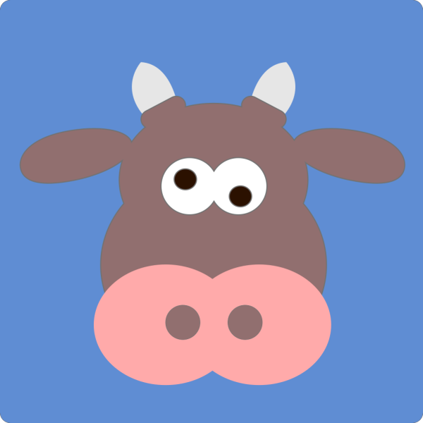 Cartoon Cow Head PNG Clip art