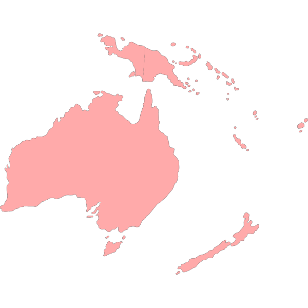 Continent Of Oceania PNG Clip art