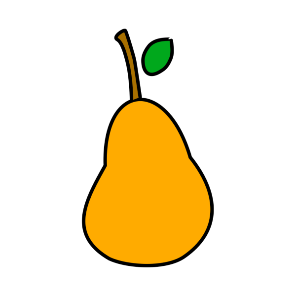 Pear With Eyes PNG Clip art