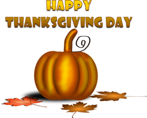 Happy Thanksgiving Day With Pumpkin PNG Clip art