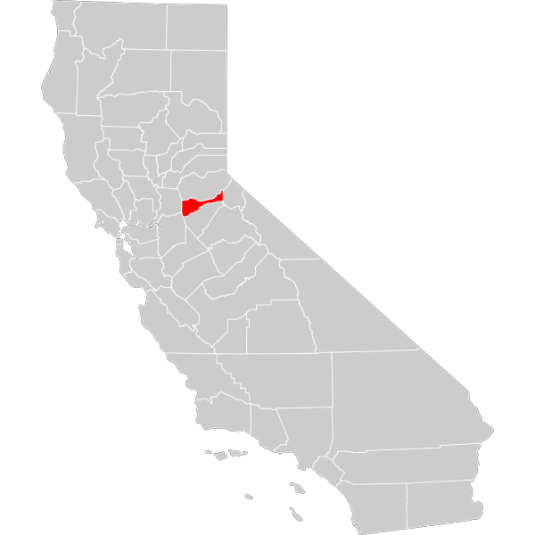 California County Map Amador County Highlighted PNG Clip art
