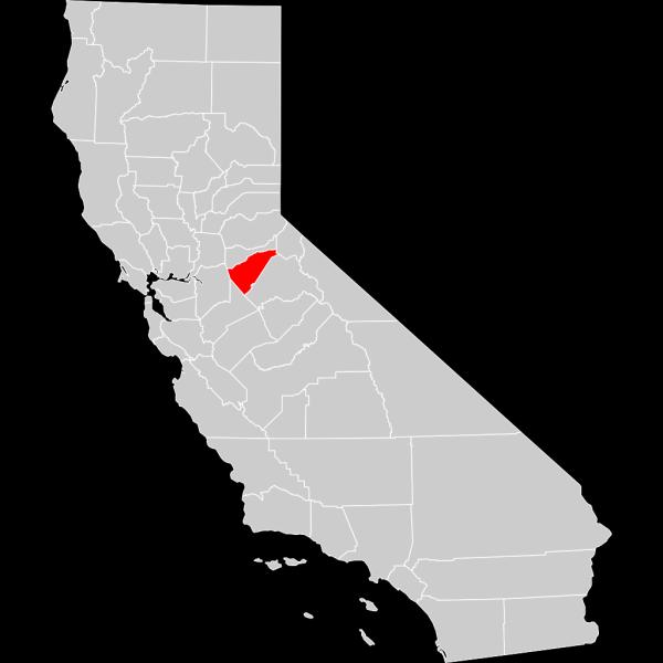 California County Map Calaveras County Highlighted PNG Clip art