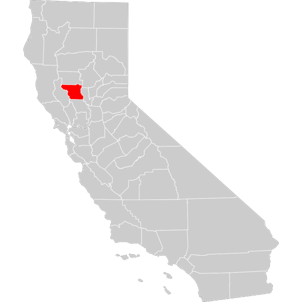 California County Map Colusa County Highlighted PNG Clip art