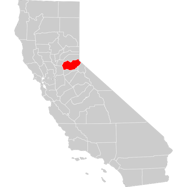 California County Map El Dorado County Highlighted PNG Clip art
