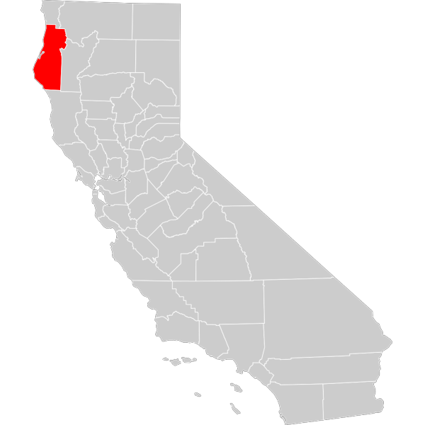 California County Map Humboldt County Highlighted PNG Clip art