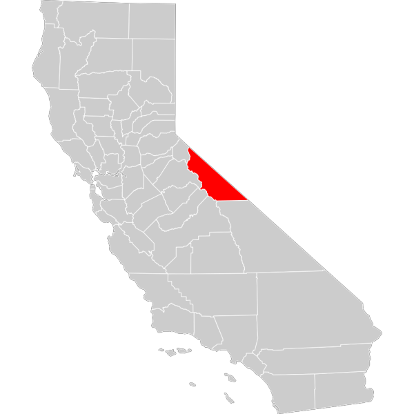 California County Map Mono County Highlighted PNG Clip art