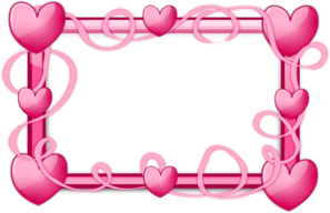 Pink Hearts Frame PNG Clip art