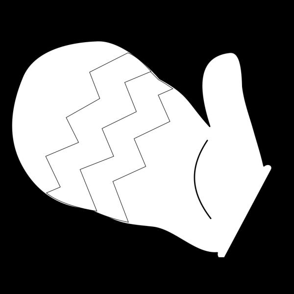Mitten Outline PNG Clip art