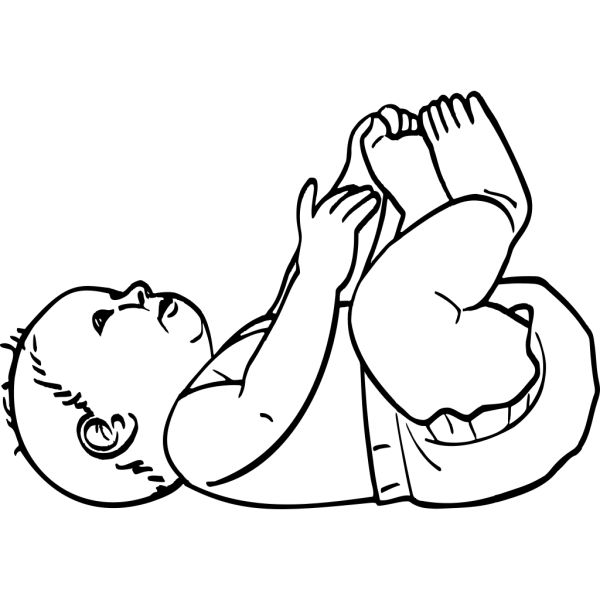 Infant Outline PNG images