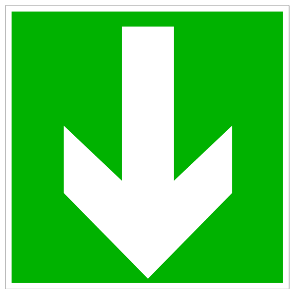 White Arrow - Down PNG Clip art