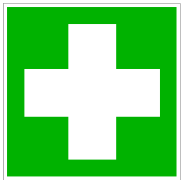 Green Hospital Cross PNG Clip art