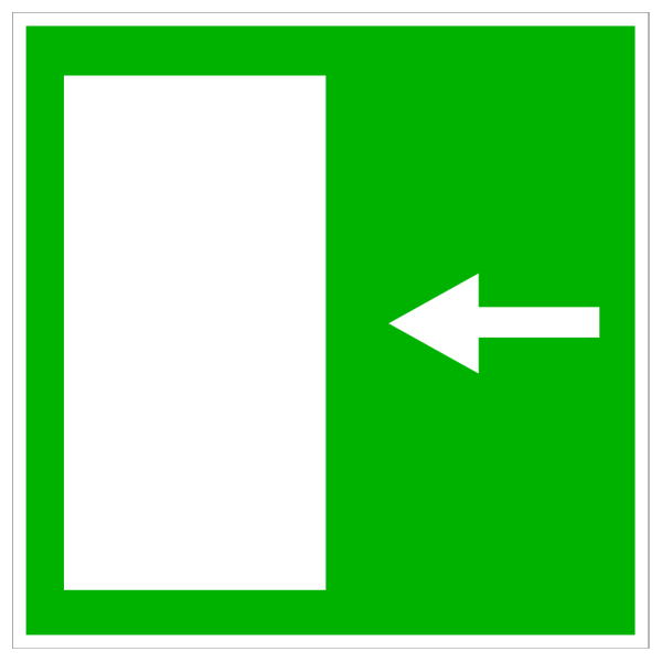 Green Exit Door - Left PNG clipart