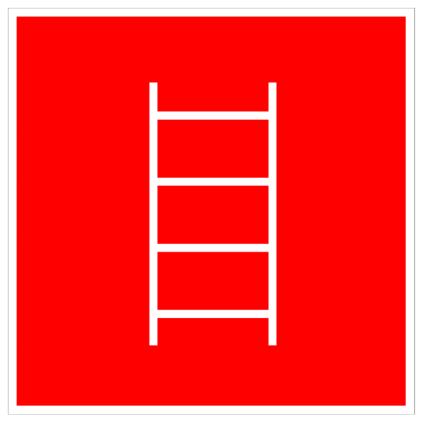 White Fire Exit With Red Background PNG Clip art