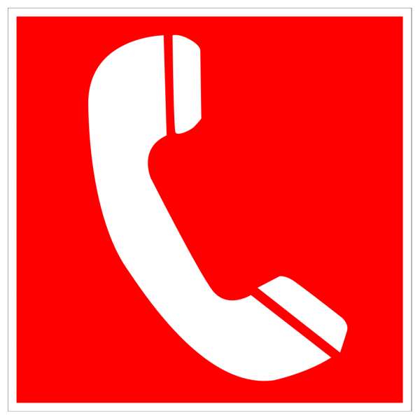 White Telephone With Red Background PNG Clip art