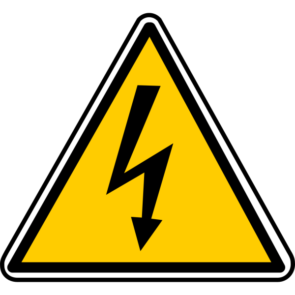 Warning - Electricity PNG Clip art