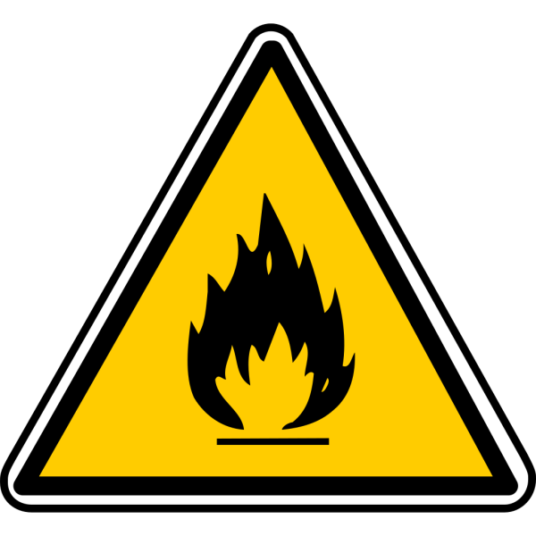 Warning - Flammable PNG Clip art