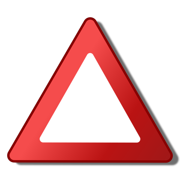 Empty Warning Symbol PNG Clip art