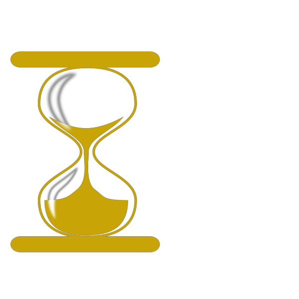 Gold Hour Glass PNG Clip art