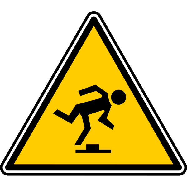 Warning - Tripping Hazard PNG Clip art
