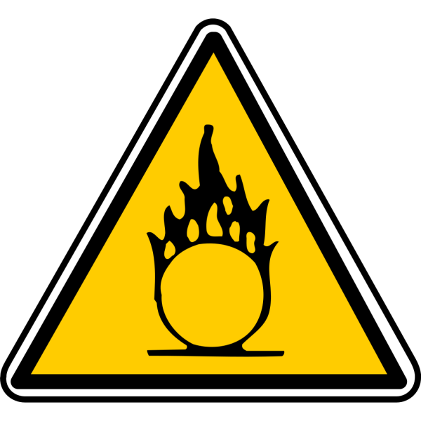 Warning - Flammable 2 PNG Clip art