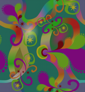 Colorful Paisley Pattern PNG Clip art