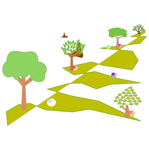 Journey Through Landscape PNG Clip art