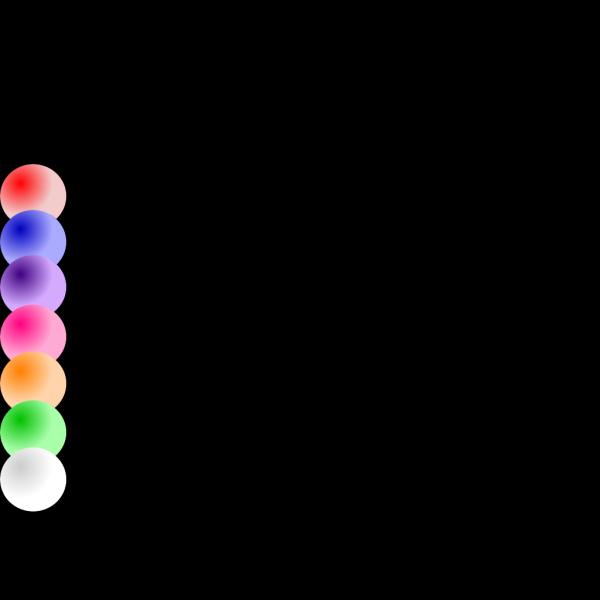 Colored Balls 2 PNG Clip art