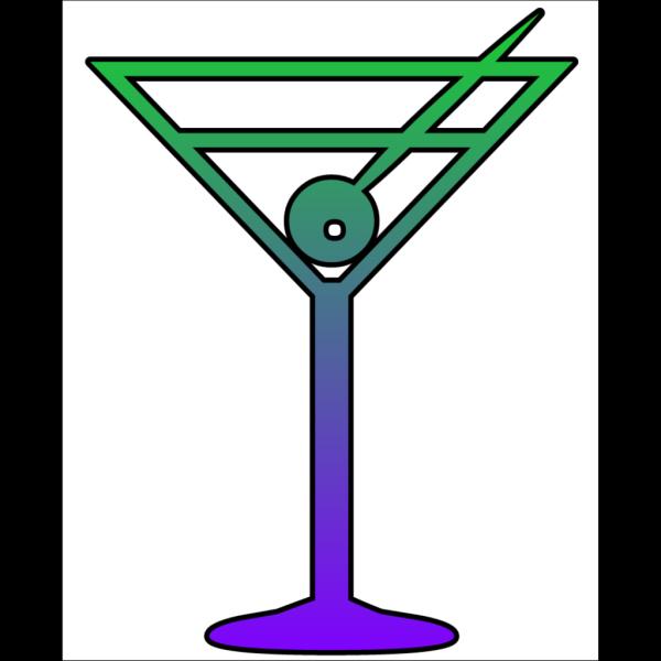 Martini Glass Cutout PNG Clip art