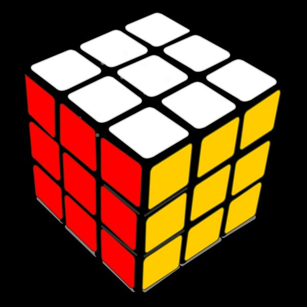 Rubiks Cube 3d Colored PNG Clip art