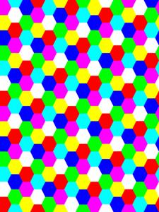 Hexagon Tiles PNG Clip art