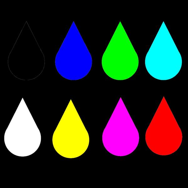 Colored Raindrops PNG Clip art