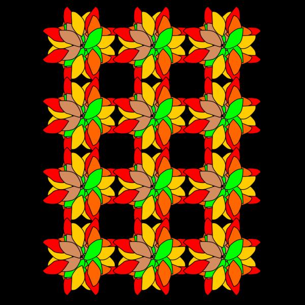 Criss Cross Flower Design PNG Clip art