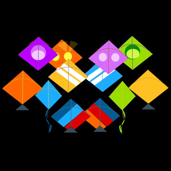 Pattern Kites PNG Clip art
