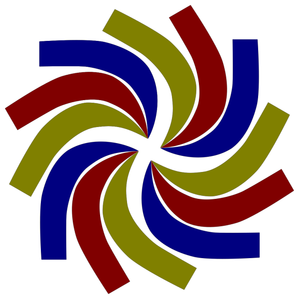 Coloured Swirl PNG Clip art