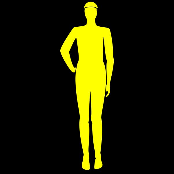 Yellow Man PNG Clip art