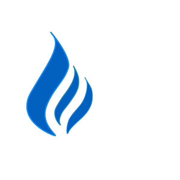 Blue Flame Solid Color Contur PNG Clip art