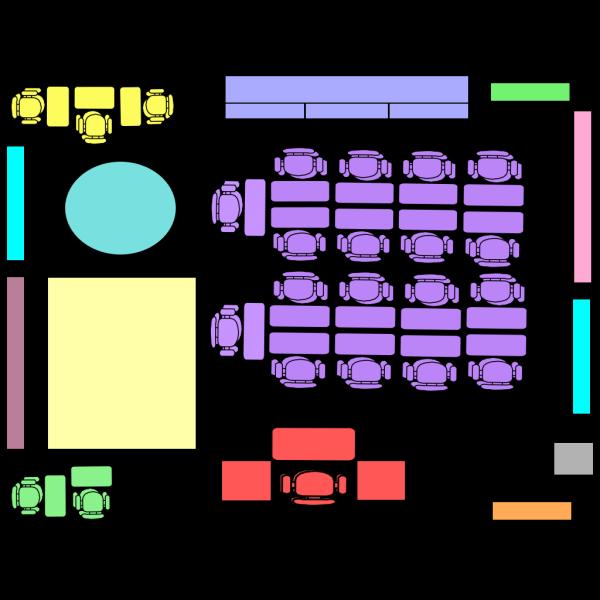 P Classroom Arrangement 2  PNG Clip art